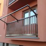 balkon se sušákem